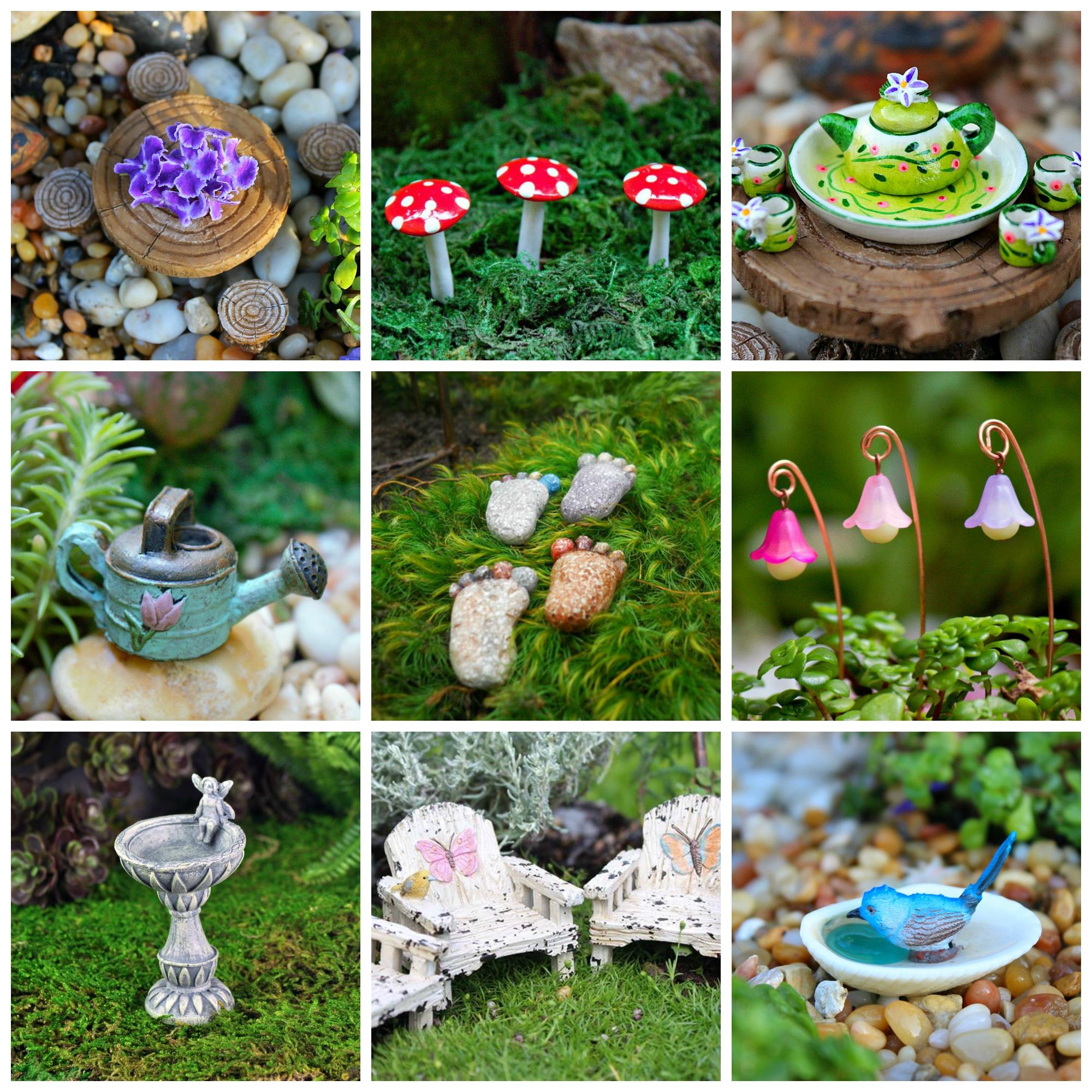 terrarium fairy garden accents - Fairy Garden Terrarium