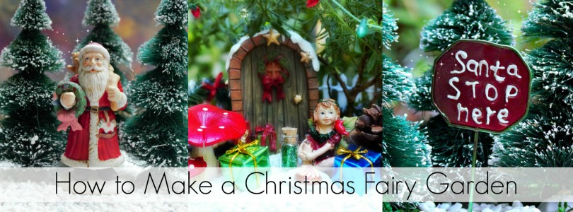 Blog Post - How to Make a Christmas Fairy Garden - Garden Sparkle Blog