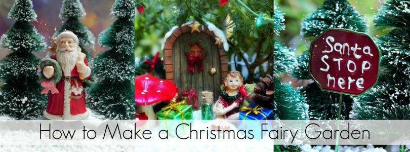 Blog Post - How to Make a Christmas Fairy Garden - Garden Sparkle Blog