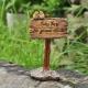 The Fairy Party Sign - Miniature Fairy Garden Sign - Garden SParkle