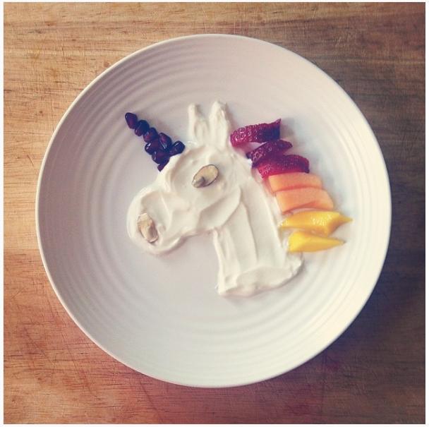 Unicorn Yoghurt Plate - Garden Sparkle