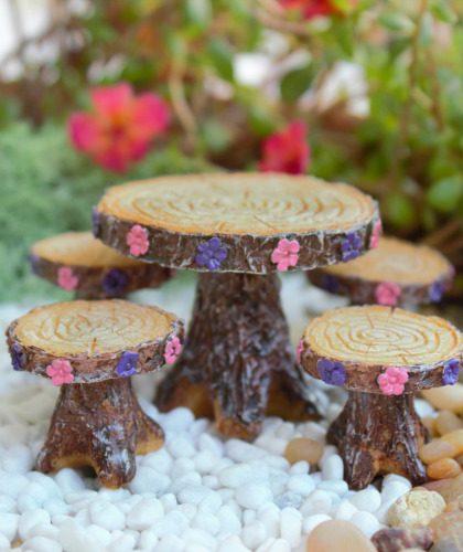 Fairytale Table Set - Fairy Garden Furniture