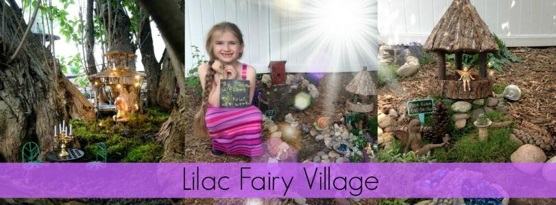 The Lilac Fairy Village - Fairy Garden Village - Fairy Gardening Ideas