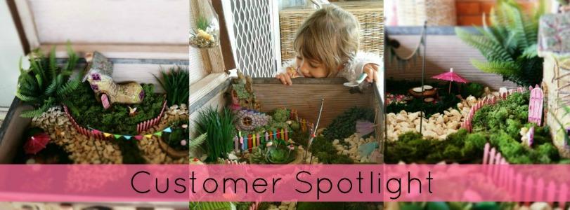 GS Customer Spotlight - Vintage Suitcase Fairy Garden