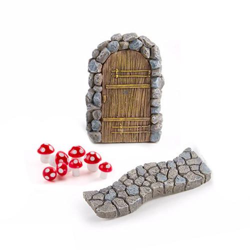 Mini FAIRY GARDEN Accessories ~ Wood Door with Heart ~ NEW